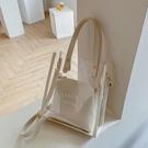 子母包 透明果凍包包女斜背包2021新款潮夏天大容量手提托特包時尚子母包 嬡孕哺