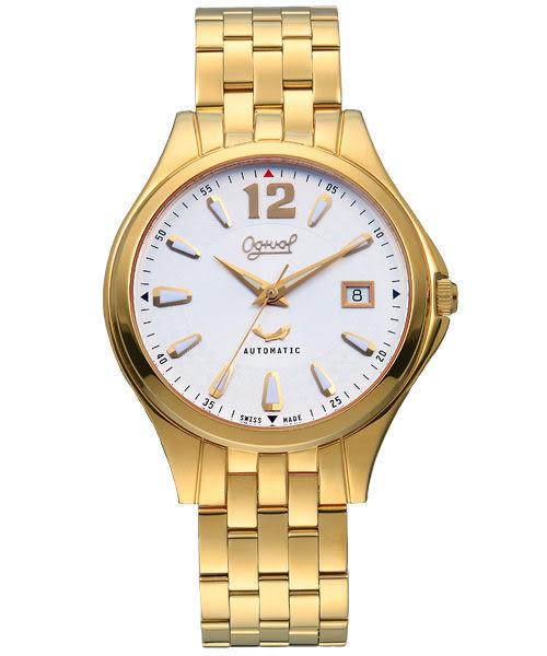 Ogival 愛其華 經典時刻自動上鍊機械腕錶-金 829-24AGK