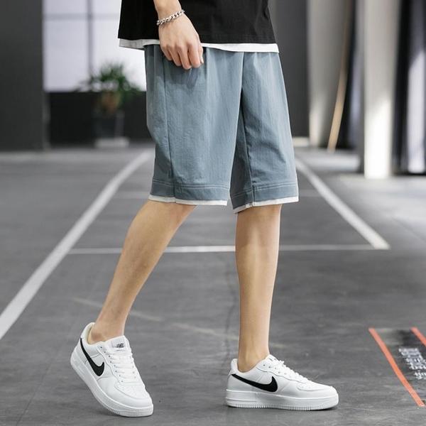 短褲男士夏季薄款潮流大褲衩五分褲子寬鬆外穿七分褲休閒海灘中褲米娜小鋪