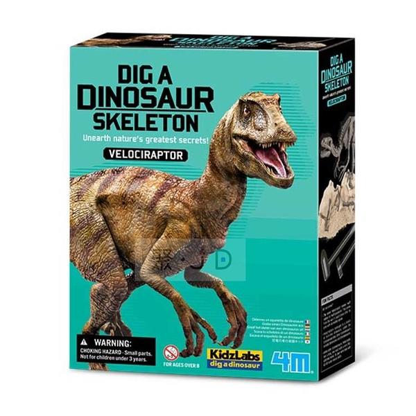 【4M】挖掘恐龍系列 - 00-13234 挖掘迅猛龍 Dig a Velociraptor Skeleton