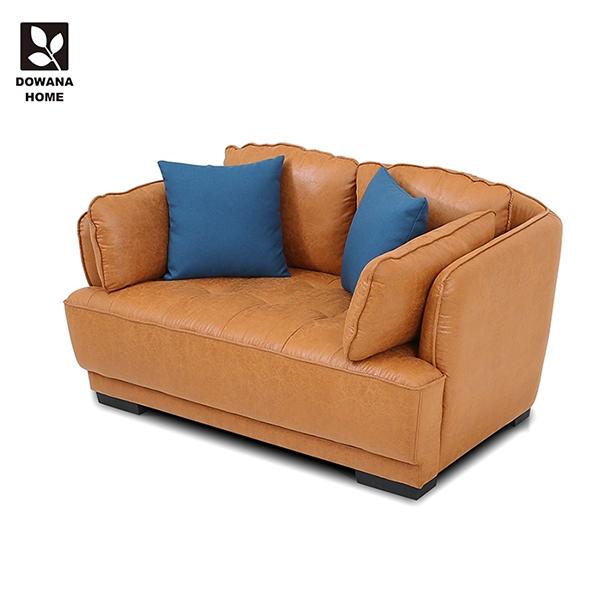 【多瓦娜】黛博拉撞色雙人沙發-褐色-YL1254