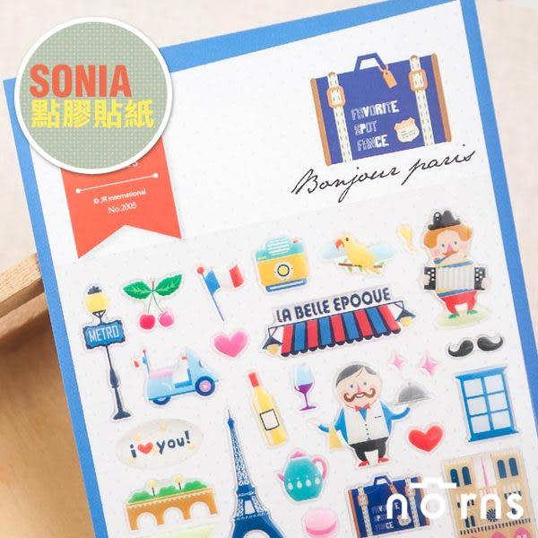 Norns 韓國【SONIA Bonjour Paris 貼紙】Norns 巴黎 日記 手帳 行事曆 拍立得照片 裝飾貼紙