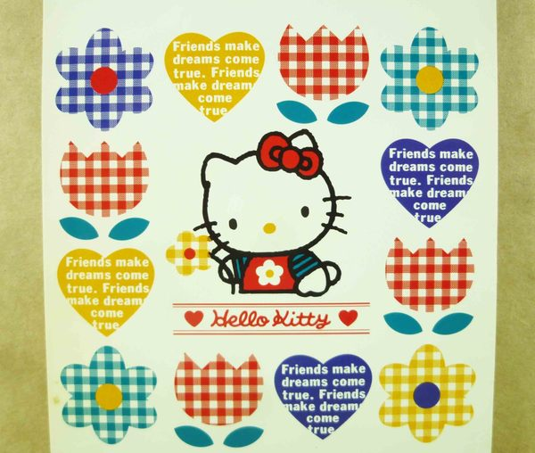 【震撼精品百貨】Hello Kitty 凱蒂貓~造型卡片-格子金香