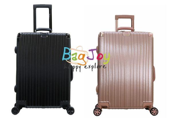 BagJoy 復古方正造型 防刮髮絲紋 飛機輪 20吋 容量可擴充 旅行箱 硬殼拉桿箱 行李箱 登機箱