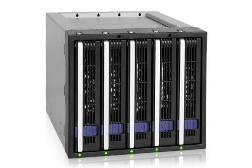 "ICY DOCK FatCage MB155SP-B 五層式 附 EZ-Tray 3.5"" SATA HDD 熱插拔 5轉3 3.5"" 硬碟內接模組 (MB455 精簡版)"