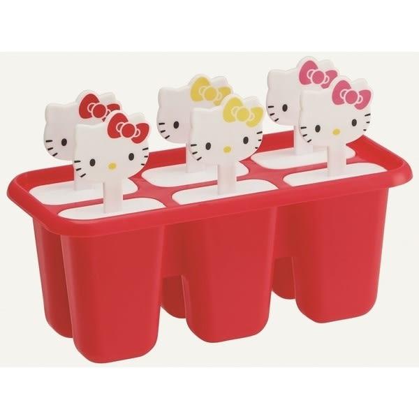 【卡漫共和國】17052700027 6入冰棒製冰盒-KT大臉紅 三麗鷗 Hello Kitty 凱蒂貓 製冰盒 模型 模組