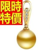 珍珠項鍊 單顆10-11mm-生日情人節禮物細緻風靡女性飾品53pe30[巴黎精品]
