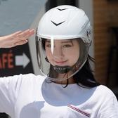 電動車頭盔男女通用摩托車頭盔女四季安全帽冬季保暖半盔防風防雨 創時代 YJT