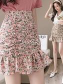 魚尾裙 夏季碎花雪紡魚尾半身裙子女裝新款春高腰a字短裙包臀薄款