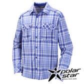 PolarStar 吸濕排汗抗UV長袖襯衫男『藍』戶外│休閒│登山│露營 │吸濕排汗│防曬衣 P16135
