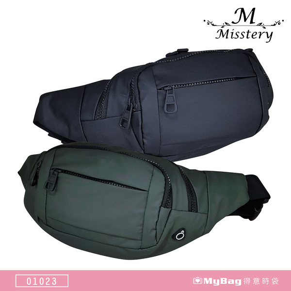 Misstery 腰包 防潑水面料 單肩包 休閒側背包 01023 得意時袋