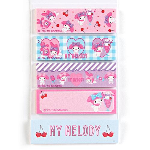Sanrio 美樂蒂便箋型紙膠帶(甜蜜兔耳朵)★funbox★_702544
