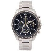 SEIKO 疾風競速風格的計時手錶(SSB303P1)-黑面X灰黑框/44mm