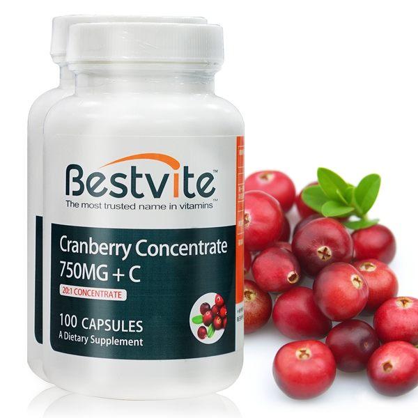【美國BestVite】必賜力高濃縮蔓越莓膠囊2瓶組 (100顆*2瓶)