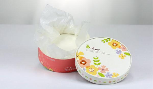 16CM  白色小花 附棉紙底板 6吋 乳酪盒 起司蛋糕盒 外帶盒 包裝盒 C004