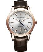 AEROWATCH 簡約紳士時尚機械腕錶-咖啡 A60947RO02