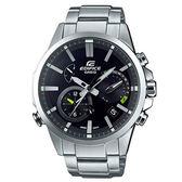 【僾瑪精品】CASIO EDIFICE 卡西歐 太陽能藍牙三眼賽車錶-黑/48.2mm/EQB-700D-1A
