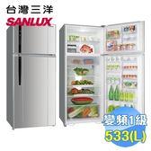 台灣三洋 SANLUX 533公升雙門變頻冰箱 SR-C533BV1