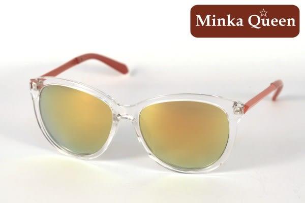 Minka Queen 夏日炫彩 亮麗金橘彩膜反光鏡片(抗UV400)時尚百搭太陽眼鏡