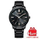 日本CITIZEN星辰 Eco-Drive 簡約三針情侶對錶男錶 BM7527-89E 黑