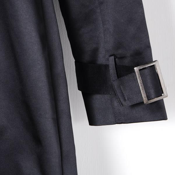 【MASTINA】假兩件式騎士風長外套-黑  外套限時特賣