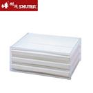 【奇奇文具】樹德 DDH-103 A4橫式桌上文件櫃(本透白抽)(三層)