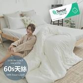 #6ST05#60支100%天絲TENCEL文青素色6尺雙人加大床包枕套三件組(不含被套)專櫃頂級300織-台灣製