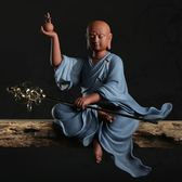 新三圣佛像禪意擺件如來觀音地藏菩薩博古架玄關客廳家居飾品