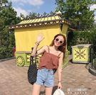 夏裝新款韓版新款女裝學生清新吊帶兩穿背心上衣純色打底衫潮   東川崎町