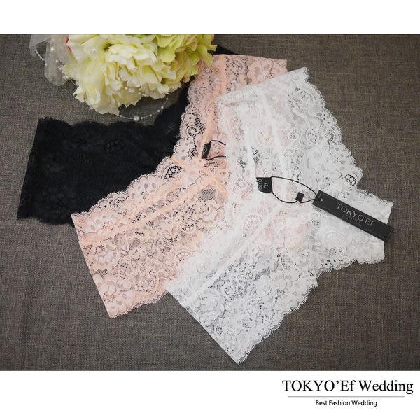 東京衣服-搭配禮服婚紗 無痕蕾絲巴西丁內褲 白/粉紅/黑 (共三色)