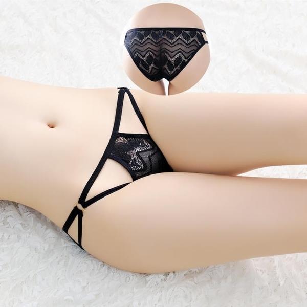 女三角褲=品牌情趣內衣蕾絲鏤空透視誘惑情趣內褲透明細低腰三角褲FAN_K555