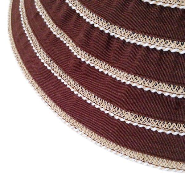 防曬UP!! 台灣製 雙色蕾絲邊框 紙紗編織淑女帽(共九色)