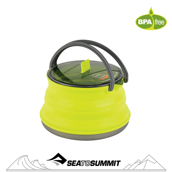 【Sea to Summit 澳洲 X-摺疊茶壺1.3L《萊姆綠》】STSAXKET1.3LI/茶壺/戶外餐具/戶外水壺