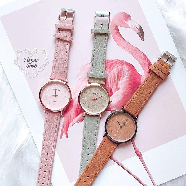 《花花創意会社》時髦簡約大錶徑仿几皮女錶。二色【H6476】