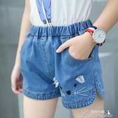女童牛仔短褲 夏季薄款熱褲新款韓版大童女孩白色短款時尚褲子  新年下殺