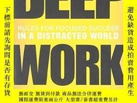 二手書博民逛書店Deep罕見Work: Rules for Focused Su
