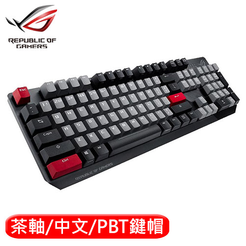 ASUS 華碩 ROG Strix Scope PBT 機械電競鍵盤 茶軸中文【送Sheath BLK滑鼠墊】