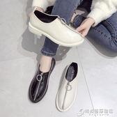 粗跟鞋 年新款春季單鞋女韓版拉鏈黑色漆皮粗跟英倫學院風ins小皮鞋 時尚芭莎