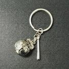 木魚 鈴鐺 掛飾 吊飾 鑰匙圈(銀色)