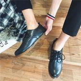 馬丁靴   工作皮鞋男中性英倫休閒鞋皮鞋男大頭馬丁靴低筒   ciyo黛雅