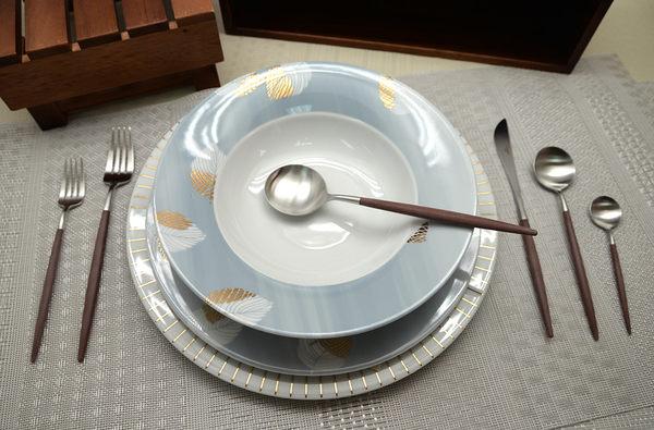 葡萄牙 Cutipol GOA系列個人餐具4件組-主餐刀+叉+匙 (棕銀)