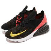 Nike 慢跑鞋 Wmns Air Max 270 Flyknit 黑 紅 編織鞋面 大氣墊 女鞋 【PUMP306】 AH6803-003