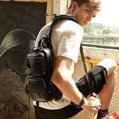 胸包 胸包男士包包 新款潮韓版背包男休閒斜背斜背包潮牌多功能跨包 韓菲兒