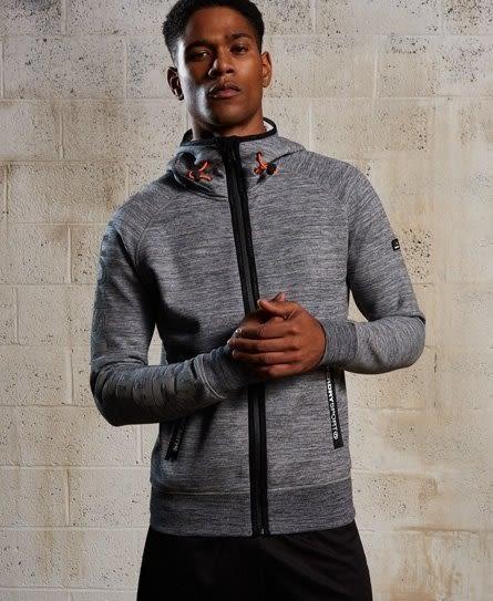 美國代購 Superdry 極度乾燥 Gym Tech Ziphood 花崗岩迷彩灰 拉鍊帽外套 (XS~XXXL)
