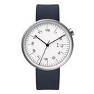 【萬年鐘錶】10:10 BY NENDO draftsman 001 策畫者系列 銀框/海軍藍皮 錶徑35MM