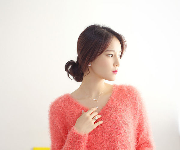 Qmishop 韓國韓劇類似最新款 名媛氣質甜美珍珠項鍊鎖骨鍊【QG1772】