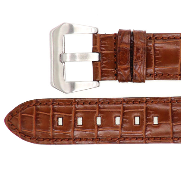 腕表帶 手錶帶 鱷魚皮錶帶 尼羅鱷魚皮 crocodile watch strap 咖色