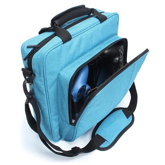 [哈GAME族]滿399免運費 可刷卡●防水材質●PS4 PRO 主機收納包 主機保護包 外出包 可放控制器 肩背