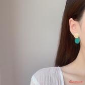 耳環 莫蘭迪色高級感耳環新款潮銀耳釘女氣質韓國個性簡約冷淡風 3色 快速出貨