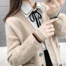 中長款毛衣外套女慵懶風韓版寬鬆網紅復古時尚秋裝針織衫開衫上衣 瑪奇哈朵
